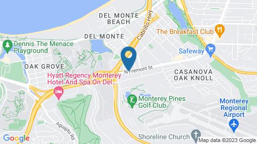 Monterey Fairgrounds Inn Map
