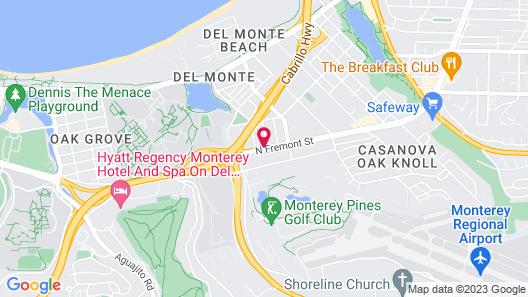 Rodeway Inn Monterey Near Fairgrounds Map