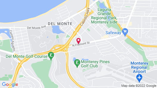 Quality Inn Monterey Map