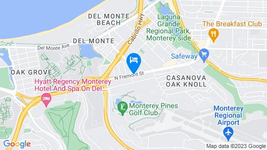El Castell Motel Map