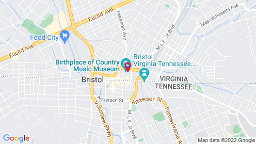 The Bristol Hotel Map