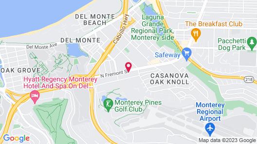 Motel 6 Monterey, CA Map