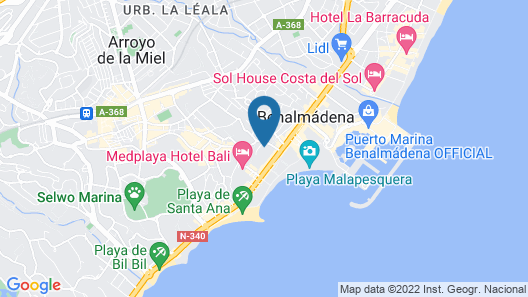 Hotel Best Siroco Map