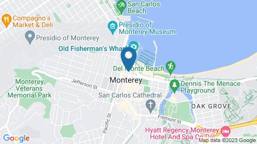 Portola Hotel & Spa at Monterey Bay Map