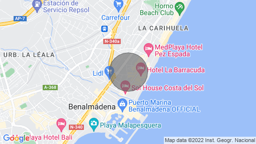 797 HR- Townhouse for 6 in La Carihuela Map