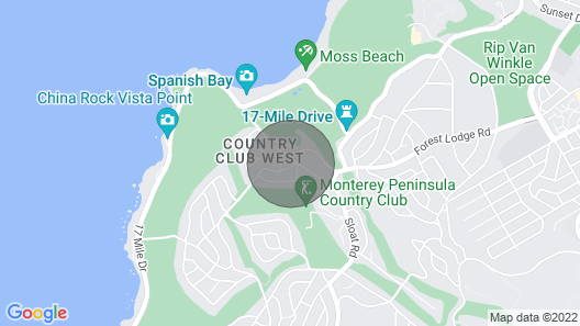 The Wheelhouse - Pebble Beach Home - Luxury @ Mpcc and Beach Map