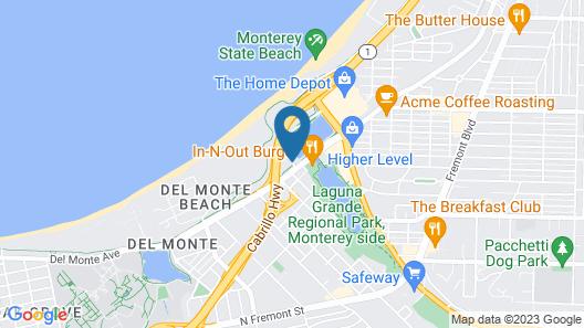 Hampton Inn Monterey Map