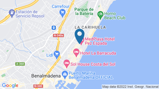 Medplaya Hotel Pez Espada Map