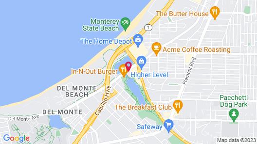 Holiday Inn Express at Monterey Bay, an IHG Hotel Map