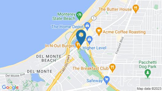 Holiday Inn Express at Monterey Bay Map