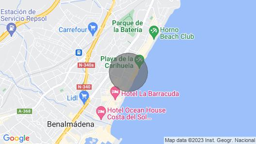 First Line Penthouse La Carihuela Pez Espada Map