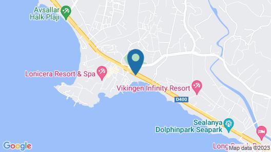 Adin Beach Hotel Map