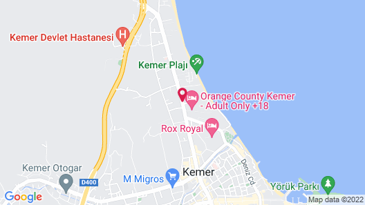 Kemer Barut Collection - All Inclusive Map