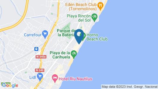 Hotel Mediterráneo Carihuela Map