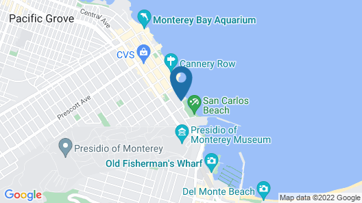 Monterey Bay Inn Map