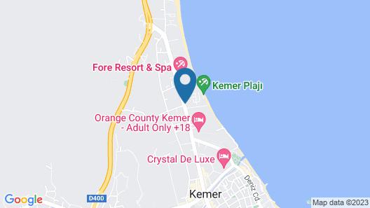 Crystal Aura Beach Resort & Spa – All Inclusive Map