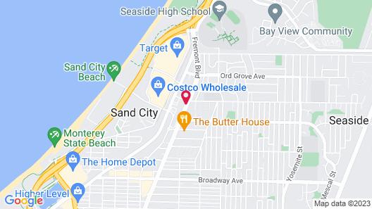 SureStay Hotel by Best Western Seaside Monterey Map