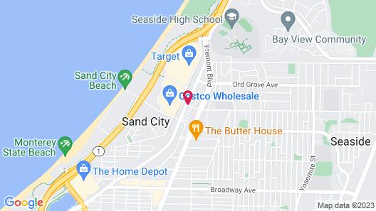Sand Castle Inn Map