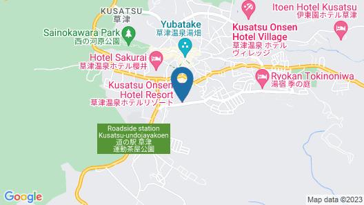 Kusatsu Onsen Hotel Resort Map