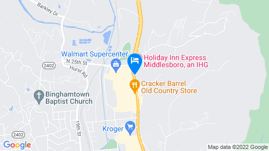 Holiday Inn Express Middlesboro, an IHG Hotel Map