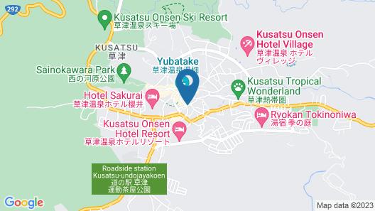 Kusatsu Onsen Futabaya Map