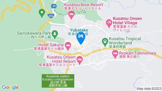 Kusatsu Onsen Gensen Ichinoyu Map