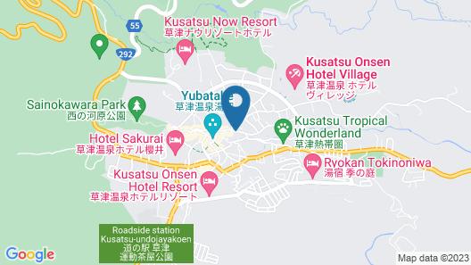 Kusatsu Onsen 326 Yamanoyu Hotel Map