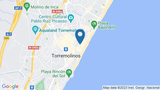 Hotel Apartamentos Bajondillo Map