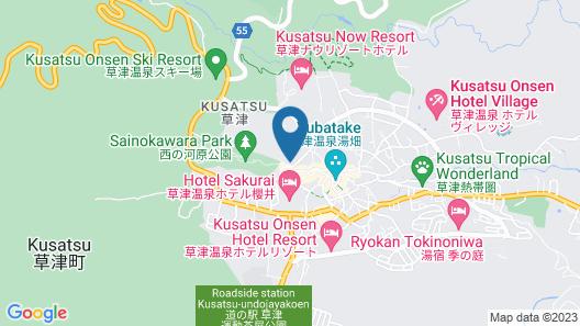 Kusatsu Hotel Map