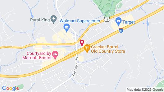 Quality Inn & Suites I-81 Exit 7 Map