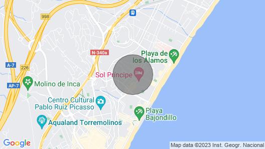 200meters Walk To Beach-promenade, Pool, Spa Jacuzzi, Wifi, Parking. Golf 3km Map