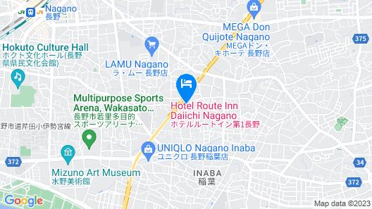 Hotel Route-Inn Dai-Ni Nagano Map