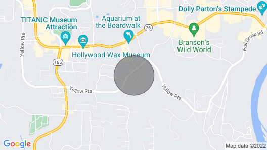 Location!! Right off the Branson Strip! Super Close to Everything!! Map