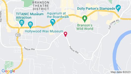 Comfort Inn at Thousand Hills Map