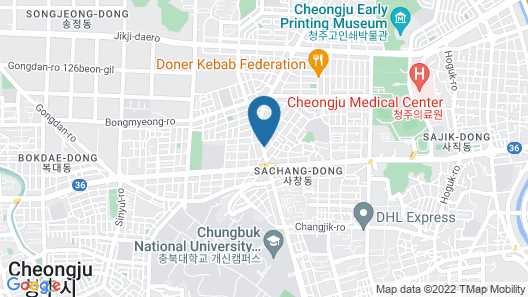 Blanc Hotel Cheongju Map