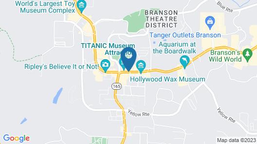 Best Western Center Pointe Inn Map