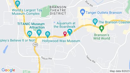 Clarion Inn Branson Map