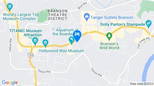 Radisson Hotel Branson Map