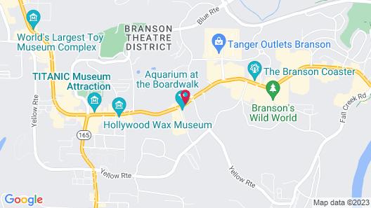 Baymont by Wyndham Branson Theatre District Map