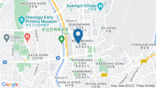 Brown Dot Hotel Cheongju Map