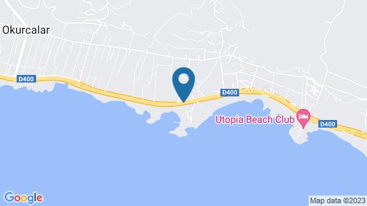 Oz Hotels İncekum Beach Resort Map