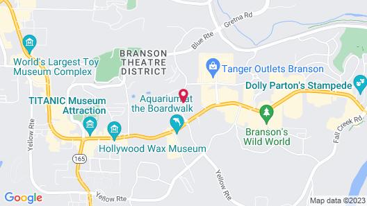 Grand Plaza Hotel Branson Map