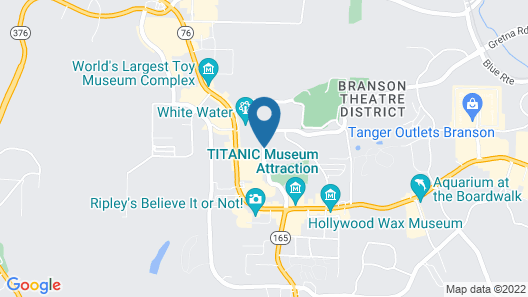 Americas Best Value Inn & Suites Branson - Near the Strip Map