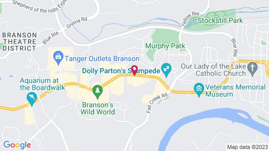 Quality Inn Branson - Hwy 76 Central Map