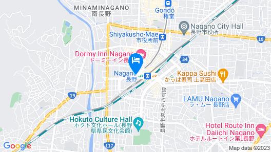 Hotel Metropolitan Nagano Map