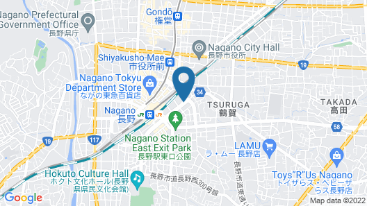 Mielparque Nagano Hotel Map