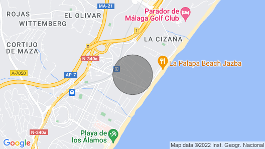 Detached House With Pool, 200m. the Beach, Restaurants and Shops Map