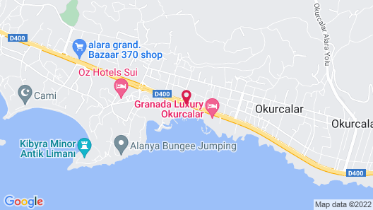 Orange County Resort Hotel Alanya - All Inclusive Map
