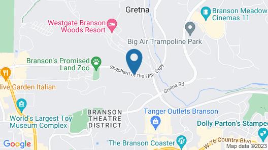 Capital O - Classic Motor Inn Branson Map