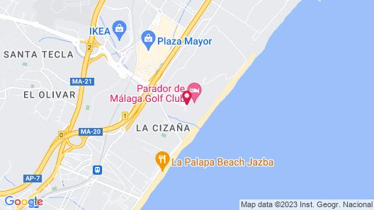 Parador de Málaga Golf hotel Map